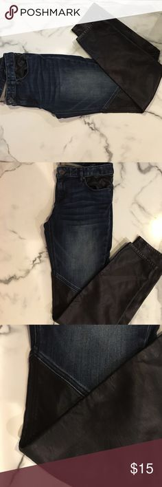 Jeans Leather bottom jeans Express Jeans Skinny