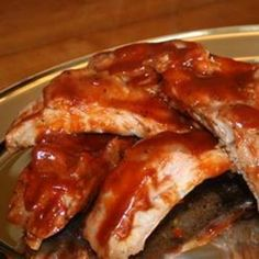 Oven Baked BBQ Ribs. Easy as hell. #ScotHibb