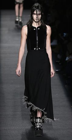 Kendall Jenner walked in the Alexander Wang show during NYFW on Feb. 14.