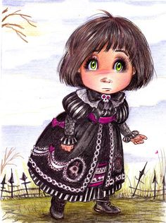 GOTHIC LOLITA  Doll  inspiration ,black is the new sweet look by pilar