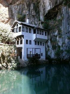 amazing home built into a cliff