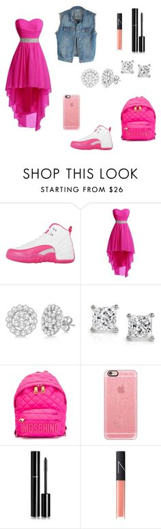 """""""Who say tomboy can't be girly lol👌🏾"""" by nmcneil-nm ❤ liked on Polyvore featuring NIKE, Allurez, Montebello Jewelry, Moschino, Casetify, Chanel and NARS Cosmetics"""