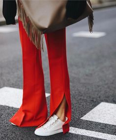 Slit Leg Pant | Street Style Outfit