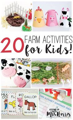 A great article with 20 perfect far activities and mentor texts for your primary students #farmactivities