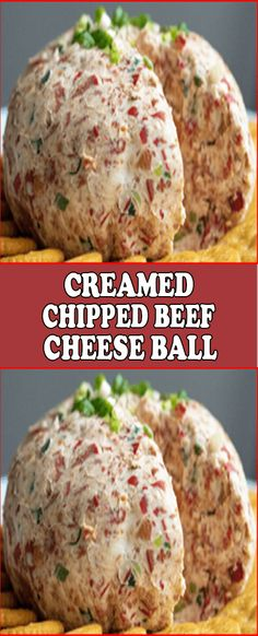necessary 1 Tsp. onion powder 3 sSalks green onion, finely chopped, plus extra for garnish (optional) Chipped Beef Dip, Creamed Chipped Beef, Chip Beef Cheeseball, Dried Beef Cheeseball Recipes, Easy Cheeseball, Dried Beef Recipes, Cooking Recipes, Appetizer Dips, Appetizer Recipes