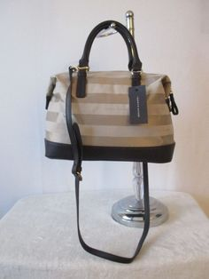 Tommy Hilfiger Handbag CV Bowler Color Beige 6935844 235 Retail Price $85.00…