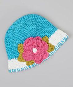 Look at this #zulilyfind! Blue Amelia Bucket Hat #zulilyfinds