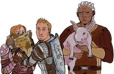 Лелиана,DA персонажи,Dragon Age,фэндомы,Алистер,Стэн (DA),Наг (DA)