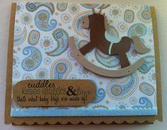Baby Boy Card, Baby Shower Card, Handmade Baby Card, Handmade Greeting