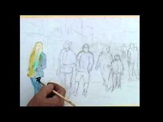 Painting Figures in an Egyptian street. Loose watercolours. - YouTube