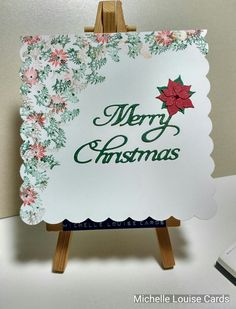 Tapestry Peg stamps Merry Christmas card
