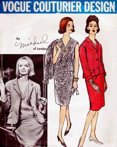 Sz 14 Vintage 1960s Vogue Couturier Design by allthepreciousthings, $75.00 #60s #retro #vintage