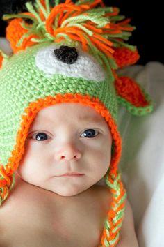 578a3593aede0 Crochet Pattern Monster Alien Mohawk Hat PDF. Etsy. GorrasSombrero ...