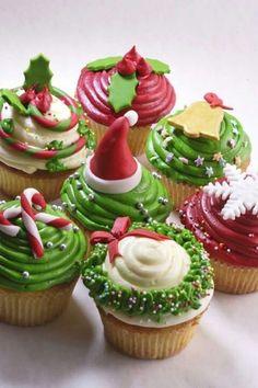 Awesome Christmas cupcakes design