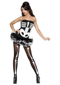 Look bone-chilling this Halloween in this great Skeleton Womens costume. This bone-tastic costume features a tutu-style dress with detachable clear straps. The white bones are printed on the black front. Add some stockings and sexy heels for a great Sexy Skeleton Costume, Angel Fancy Dress Costume, Halloween Pas Cher, Costumes Sexy Halloween, Costumes For Work, Cool Costumes, Halloween Ideas, Costume Ideas, Halloween Zombie