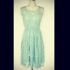 This lace dress we have Ivory and Light Blue colors, pick this to attend your friend's wedding ceremony!