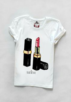 T-shirt with your favorite lipstick by Yeah Bunny from Yeah Bunny tshirt, lipstick, coco, red, gold, yeahbunny, poland, polish, designer, lips,