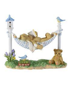 Look what I found on #zulily! Reading on the Hammock Figurine by Cherished Teddies #zulilyfinds