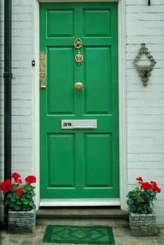 Coloured front door