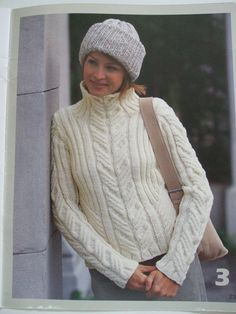 Second Silver - 500989 Patons Designer Series Street smart Knitting patterns cabled hoodie