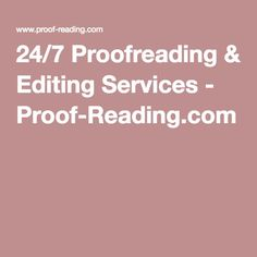 24/7 Proofreading & Editing Services - Proof-Reading.com