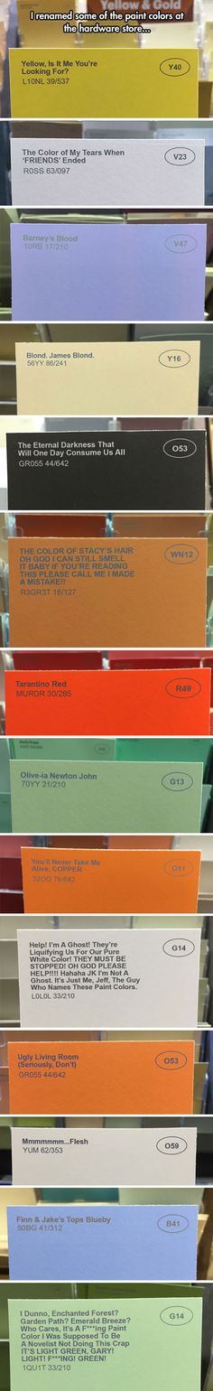 The world's greatest color names...