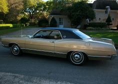 1969 Ford LTD Brougham 2 door. 390 V8, mint condition, 20,000 original miles. Champagne Gold Metallic.