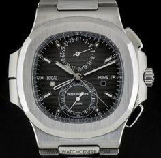 Patek Philippe S/S Nautilus Travel Time Chronograph Gents B&P 5990/1A-001