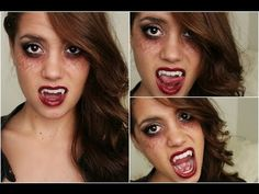 Vampire Halloween Tutorial | TVD Inspired! (Makeup, Hair & Outfit) - YouTube