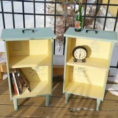 upcycled drawers to side tables, painted furniture, repurposing upcycling #furnitureredo