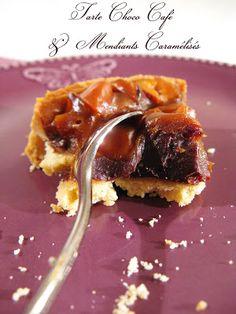 J'en reprendrai bien un bout...: Tarte Choco Café & Mendiants Caramélisés
