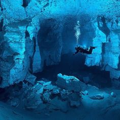 Orda Cave is a world's largest underwater cave found underneath the western Ural Mountains. Photo by: Viktor Lyagushkin