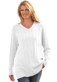 Plus Size V-Neck Cable Pullover (White,4X) Woman Within,http://www.amazon.com/dp/B00FKZ72PQ/ref=cm_sw_r_pi_dp_iPcKsb09F3Q2JBS8