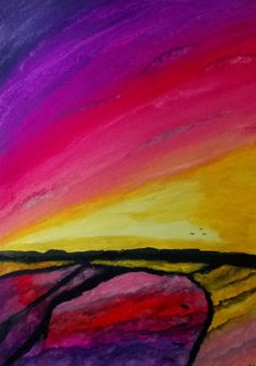 """""""Sunset On Napier """" by Nicole Seal. Paintings for Sale. Australian People, Australian Artists, White Dragon, Paintings For Sale, Beautiful Artwork, Abstract Landscape, Watercolour Painting, Online Art Gallery, Fine Art Paper"""