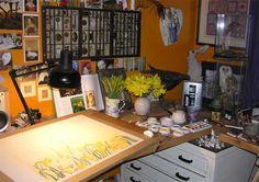 Artist Jackie Morris' studio in Pembrokeshire, Wales.