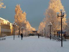 Luleå University of Technology- Skelleftea, Sweden in winter.