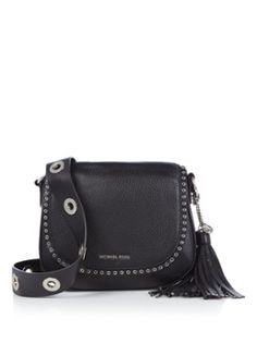 5f7b67d5be1 Michael Kors Brooklyn Saddle Bag crossbodytas van leer Longchamp,  Zadeltassen, Zadels, Brooklyn,