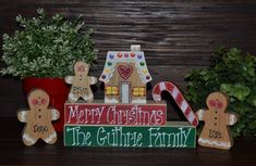 Personalized Gingerbread Christmas Decor by BlocksOfLove1 on Etsy