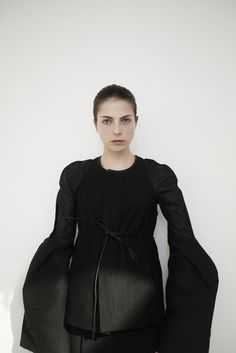 Josefin Arestav in Rick Owens. Almost medieval in inspiration.