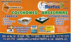 Marflex Colchones Basecamas - Fabrica de muebles en Candelaria la Nueva Bogotá.
