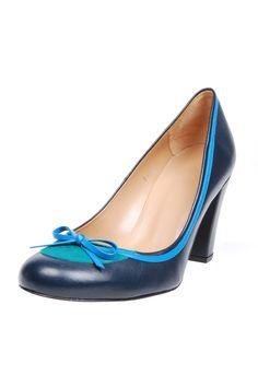 Suede Round-toe Heels