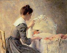Louis Emile Adan - Motherhood, 1898