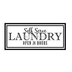 Self Serve Laundry Vinyl Decal