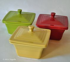 Fiesta®...Belk's exclusive boxes in Lemongrass, Ivory, and Scarlet.