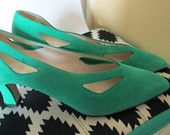 https://www.etsy.com/listing/224978215/green-suede-pumps-nos-size-9-b-from?