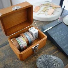 This beautiful wooden box designed and made by Classiky will accompany you through the analogue journey. Place it on your desk to host your favorite tapes and stamps or carry it from one room to anoth