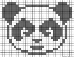 tripping panda perler - Google Search Baby Hats Knitting, Knitting Charts, Baby Knitting Patterns, Knitting Stitches, Needlepoint Stitches, Panda Craft, Modele Pixel Art, Fair Isle Chart, Pixel Pattern
