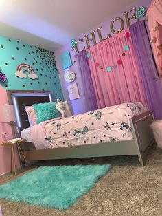10 Essential Styles for the Perfect Tween Girl Bedroom - Twin Pickle Girls Bedroom Decor Unicorn Room Decor, Unicorn Bedroom, Unicorn Rooms, Girls Room Design, Kids Bedroom Designs, Design Room, Cute Room Decor, Room Decor Bedroom, Baby Bedroom