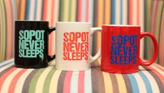 Sopot Never Sleeps Mug -  #sopotneversleeps #sopot #monciak #fashion #everydayparty #souvenir #gift #mug #cup #colorful #ceramics