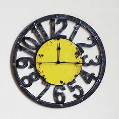 """15.75""""H Cartoon Irony Style Wall Clock – GBP £ 33.01"""